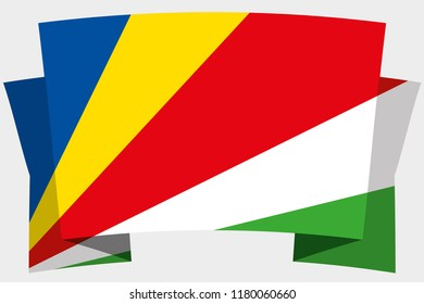 A 3D Banner with the Country Flag of  Seychelles