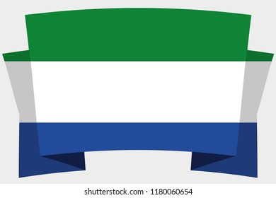 A 3D Banner with the Country Flag of  Sierra Leone