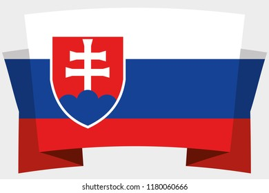 A 3D Banner with the Country Flag of  Slovakia