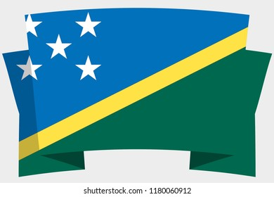 A 3D Banner with the Country Flag of  Solomon Islands