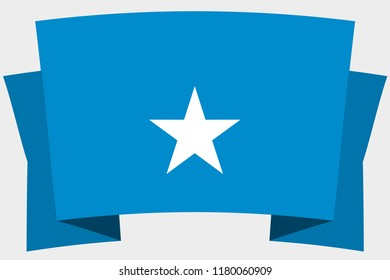 A 3D Banner with the Country Flag of  Somalia