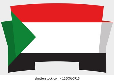 A 3D Banner with the Country Flag of  Sudan