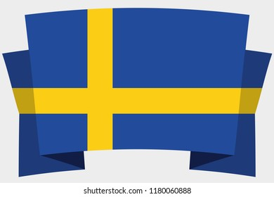 A 3D Banner with the Country Flag of  Sweden