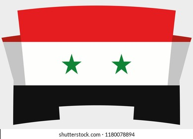 3D Banner with the Country Flag of Syria