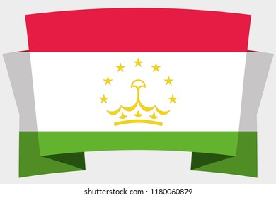 A 3D Banner with the Country Flag of  Tajikistan