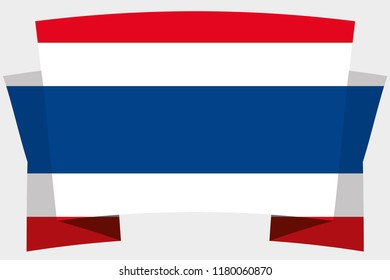 A 3D Banner with the Country Flag of  Thailand