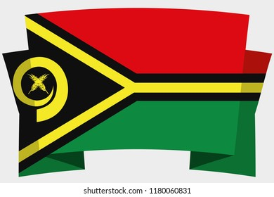 A 3D Banner with the Country Flag of  Vanuatu