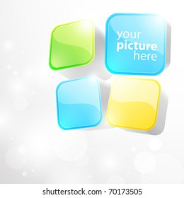 3d bright abstract background with cubes - vector illustration