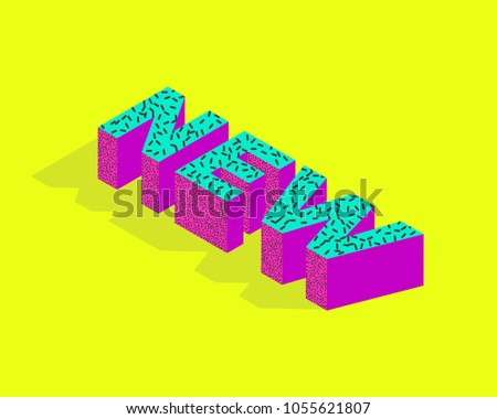 3 d bright colors banner template word stock vector royalty free
