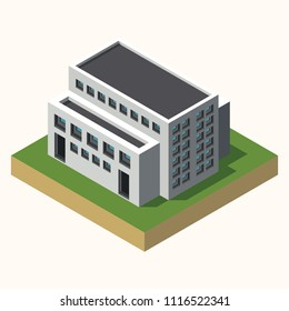 3D BUILDING FLAT TEMPLATE