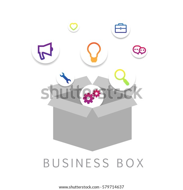 3d Business Box Isolated On White Stock Vector (Royalty Free) 579714637