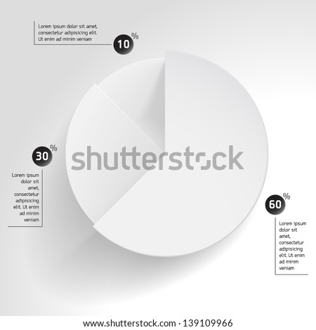 3 D Business Pie Chart Wheel Chart Stock Vector Royalty Free
