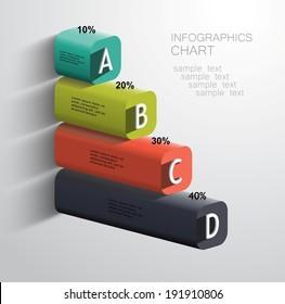 3d business pillars vector template