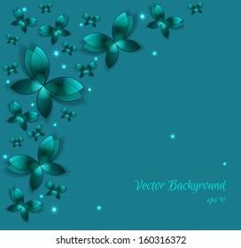 3d butterfly glowing elegant background