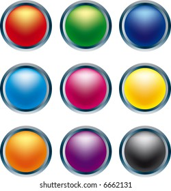 3D buttons in primary colors