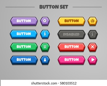 Game Ui Buttons Images, Stock Photos & Vectors | Shutterstock