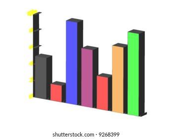 3d chart - vector illustration