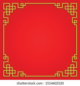 3D chinese pattern frame, vector border art china style
