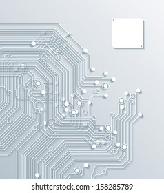 3d circuit board background texture - vector