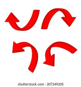 3D circular red arrow