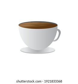 3d coffee cup design on white background. 3d coffee cup design for your website design. Logo, application, UI. Vector illustration, EPS10.