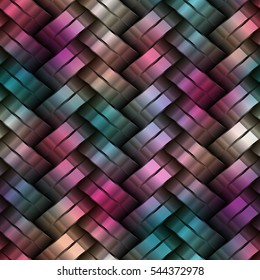 3d colorful metal Texture. Abstract Geometric Background Design. Seamless Multicolor Pattern