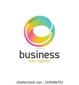 3d Colourful Letter 'c' Logo