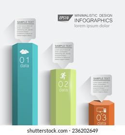 3d columns digital data / element vector graphics business