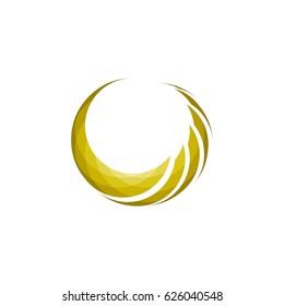 3d Crescent logo design