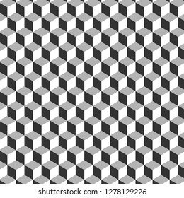 3D cube gray pattern background