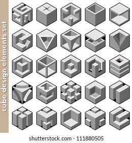 3d cube logo design pack