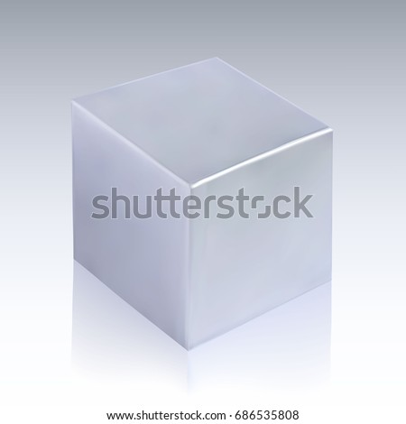3 d cube your graphic design rectangular stock vector royalty free