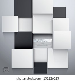 3D cubes background - design template. Vector