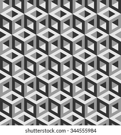 3d cubes pattern vector