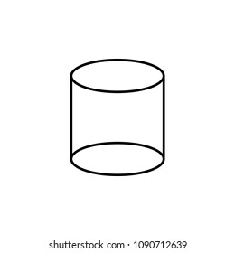 3d cylinder icon. Element of geometric figure for mobile concept and web apps. Thin line 3d cylinder icon can be used for web and mobile on white background