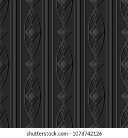 3D dark paper art Oval Curve Cross Frame Line Diamond Gem, Vector stylish decoration pattern background for web banner greeting card design