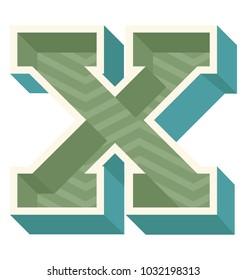 3d Design of English alphabet X