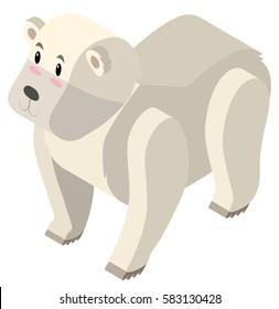 3D design for polar bear illustration