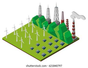 3D design for power station illustration