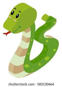 3D design for rattle snake illustration