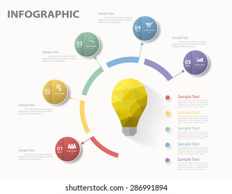 3D digital template Infographic. Vector illustration can be used for workflow layout, diagram, number options, web design