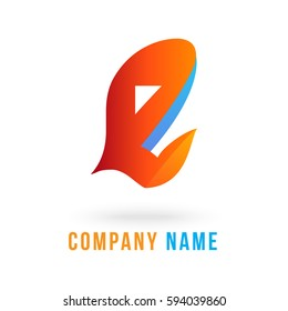 3d e letter logo vector fully editable and re sizable suitable for which  letter is beginning with letter e