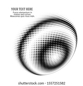 3D effect decorative balls with chess halftone dot spheres isolated black on white. Vector illustration EPS10. Design elements for your advertising flyer, presentation template, brochure layout, logo