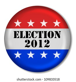 3D Election 2012 Badge (EPS10 Vector)