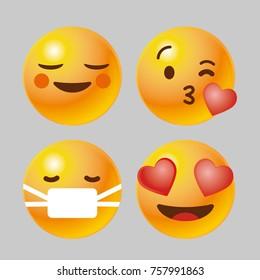 3D emoji icon set