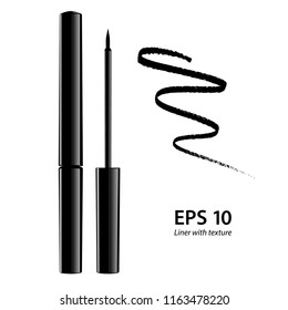 3d eyeliner illustration with sample texture