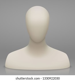3d faceless mannequin bust and head