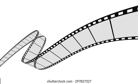 3d Film Strip. White background.