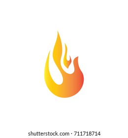 3d flame logo