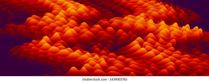 3D fluid gradient flame color vector abstract background, dimensional dynamic shape in motion, flowing colors design element, trendy modern style.